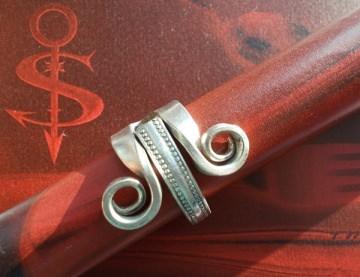 Besteckschmuck Ring ♥ Ring  aus einer Fleisch-Gabel Größe 55 Gabel