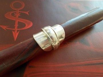 Besteckschmuck Ring ♥ Ring aus einem Mokka-Löffel Größe 50 Löffel - Handarbeit kaufen