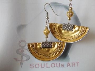 Ohrhänger ♥ Halbmond gold silber Nespresso - Kapsel Schmuck upcycling - Handarbeit kaufen
