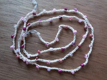 Brillenband Brillenkette  Perlenbrillenband ♥ *rosa* - Handarbeit kaufen