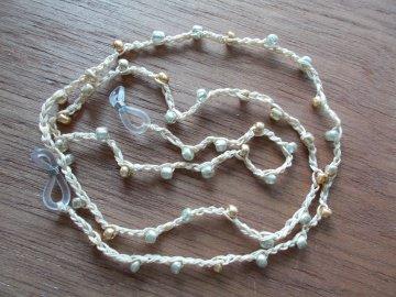 Brillenband Brillenkette  Perlenbrillenband ♥ *gold* - Handarbeit kaufen