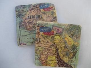 Untersetzer Fliese ♥  *Africa* 2 Stück im Set - Handarbeit kaufen