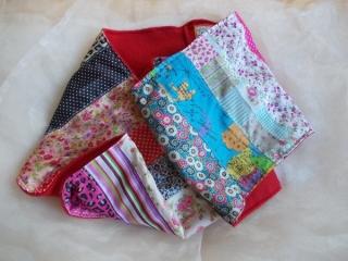 Schal  ♥ wunderschöner Schlauchschal LOOP-Schal buntes Patchwork roter Fleece handarbeit genäht - Handarbeit kaufen