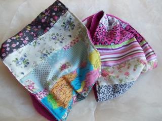Schal  ♥ wunderschöner Schlauchschal LOOP-Schal buntes Patchwork pinker Fleece handarbeit genäht - Handarbeit kaufen