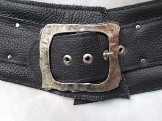 Gürtel echt  Ledergürtel Taillengürtel ♥ Modell Pirate of the Caribbean schwarz - Handarbeit kaufen