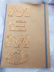 Kladde A4 Hardcover Notizbuch ♥ MEMO Kork  - Handarbeit kaufen