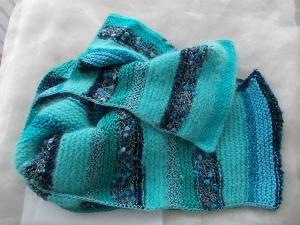 Schal  ♥ wunderschöner Strickschal *Blue* Handarbeit Unikat gestrickt - Handarbeit kaufen