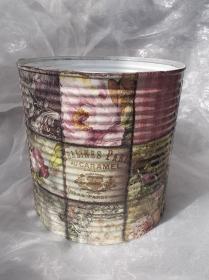Blumentopf Übertopf Tischeimer Geldgeschenk ♥ Gardenflower Serviettentechnik - Handarbeit kaufen