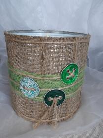 Blumentopf Übertopf Tischeimer Geldgeschenk ♥ MILANO Nespresso Kapseln Jute grün - Handarbeit kaufen