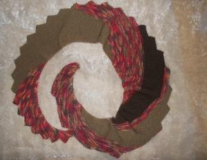 DRACHENSCHWANZ Schal  ♥ wunderschöner Strickschal *Drachenschwanz rost* Handarbeit Unikat gestrickt - Handarbeit kaufen
