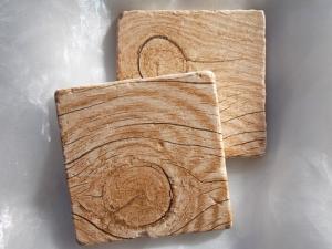 Untersetzer Fliese ♥  *Wood* 2 Stück im Set - Handarbeit kaufen
