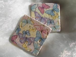 Untersetzer Fliese ♥  *Butterfly* 2 Stück im Set - Handarbeit kaufen