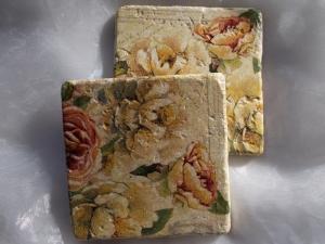 Untersetzer Fliese ♥  *Garden Rose* 2 Stück im Set - Handarbeit kaufen