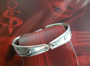Besteckschmuck Armband Armreif mit Magnet ♥ Ranke - Handarbeit kaufen