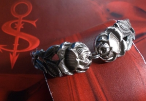Besteckschmuck Armband Armreif mit Magnet ♥ Rose