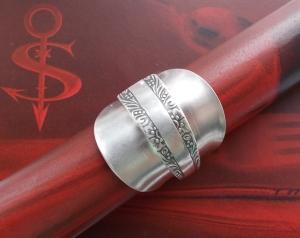 Besteckschmuck Ring ♥ Ring aus einem Mokka-Löffel Größe 63/64
