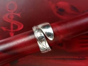 Besteckschmuck Ring ♥  Ranke Ring aus einem Löffel Größe 59