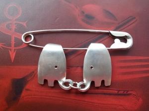 Besteckschmuck Brosche Anstecker ♥   Elefanten *Big--Love* Lagenlook - Handarbeit kaufen