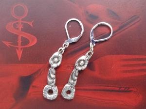 Besteckschmuck Ohrring Ohrschmuck ♥   Ohrhänger *Blümchen*  - Handarbeit kaufen