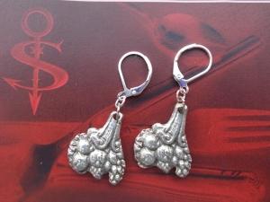 Besteckschmuck Ohrring Ohrschmuck ♥   Ohrhänger *Blumenstrauss*  - Handarbeit kaufen