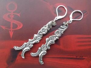 Besteckschmuck Ohrring Ohrschmuck ♥   Ohrhänger *Blumenranke*   - Handarbeit kaufen