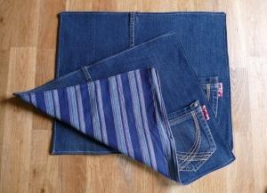 Platzdeckchen ♥ Platzset Tischset *Blue Jeans I* Tischdekoration - Handarbeit kaufen