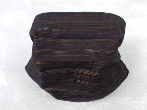 Behelfs-Mundschutz Maske Baumwolle waschbar genäht Nasenbügel Gummischlaufen *Nobelesse horizontal*