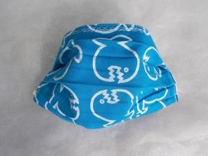 Behelfs-Mundschutz Maske Baumwolle waschbar genäht Nasenbügel Gummischlaufen *IQ Fish* LAST ONE!