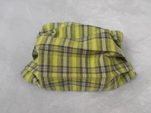 Behelfs-Mundschutz Maske Baumwolle waschbar genäht Nasenbügel Gummischlaufen *Scottish Spring*