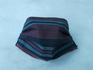 Behelfs-Mundschutz Maske Baumwolle waschbar genäht Nasenbügel Gummischlaufen *Elegance III*