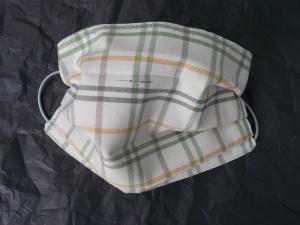 Behelfs-Mundschutz Maske Baumwolle waschbar genäht Nasenbügel Gummischlaufen *Rustikal IV* LAST ONE!