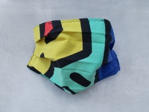 Behelfs-Mundschutz Maske Baumwolle waschbar genäht Nasenbügel Gummischlaufen *PopArt IV*