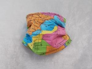 Behelfs-Mundschutz Maske Baumwolle waschbar genäht Nasenbügel Gummischlaufen *Heal the World VII*