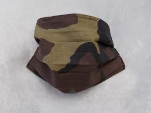 Behelfs-Mundschutz Maske Baumwolle waschbar genäht Nasenbügel Gummischlaufen *Camouflage*