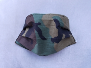 Behelfs-Mundschutz Maske Baumwolle waschbar genäht Nasenbügel Gummischlaufen *Camouflage II*
