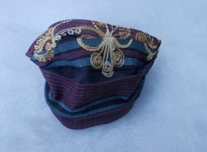 Behelfs-Mundschutz Maske Baumwolle waschbar genäht Nasenbügel Gummischlaufen *Oriental III*