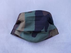 Behelfs-Mundschutz Maske Baumwolle waschbar genäht Nasenbügel Gummischlaufen *Camouflage III*
