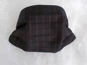 Behelfs-Mundschutz Maske Baumwolle waschbar genäht Nasenbügel Gummischlaufen *Nobelesse vertikal*