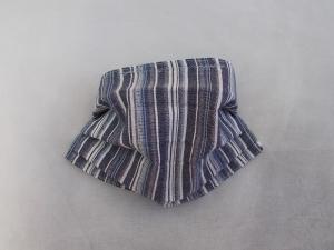 Behelfs-Mundschutz Maske Baumwolle waschbar genäht Nasenbügel Gummischlaufen *Friesen-Look*