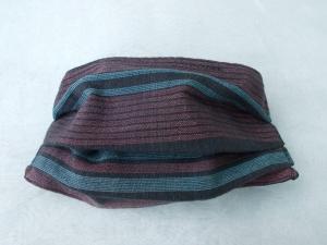 Behelfs-Mundschutz Maske Baumwolle waschbar genäht Nasenbügel Gummischlaufen *Elegance IV*