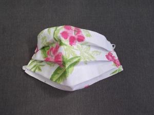 Behelfs-Mundschutz Maske Baumwolle waschbar genäht Nasenbügel Gummischlaufen *Hawaii II*