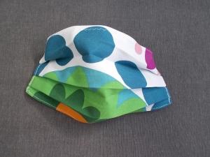 Behelfs-Mundschutz Maske Baumwolle waschbar genäht Nasenbügel Gummischlaufen *Flower Power  IIIV*