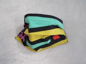 Behelfs-Mundschutz Maske Baumwolle waschbar genäht Nasenbügel Gummischlaufen *PopArt VII*