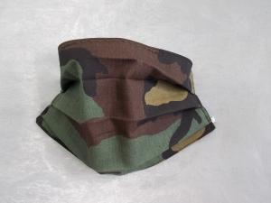 Behelfs-Mundschutz Maske Baumwolle waschbar genäht Nasenbügel Gummischlaufen *Camouflage IV*