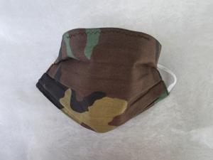 Behelfs-Mundschutz Maske Baumwolle waschbar genäht Nasenbügel Gummischlaufen *Camouflage IIV*