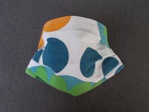 Behelfs-Mundschutz Maske Baumwolle waschbar genäht Nasenbügel Gummischlaufen *Flower Power  IIIIV*