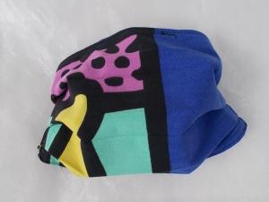 Behelfs-Mundschutz Maske Baumwolle waschbar genäht Nasenbügel Gummischlaufen *PopArt VIII*