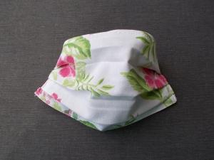 Behelfs-Mundschutz Maske Baumwolle waschbar genäht Nasenbügel Gummischlaufen *Hawaii IV*