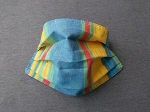 Behelfs-Mundschutz Maske Baumwolle waschbar genäht Nasenbügel Gummischlaufen *True Color*