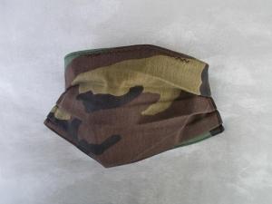 Behelfs-Mundschutz Maske Baumwolle waschbar genäht Nasenbügel Gummischlaufen *Camouflage IIIV*